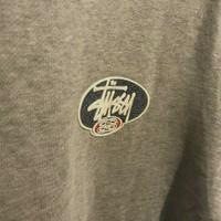 vintage stussy hoodie oval logo
