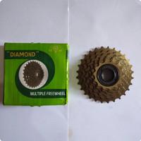 GIR BELAKANG SEPEDA 6 SPEED DRAT PIRIWIL ULIR SPROCKET 28T DIAMOND