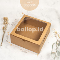BOX Dus Dos Kotak Cake Tart Kue Pudding Kotak KRAFT MIKA 22 22 10 CM