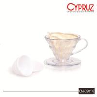 Cypruz Cyprus Transparan Corong Saringan Filter Kopi 2-4 Cups CM-0281K