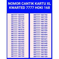 Nomor cantik kartu xl kwarted 7777 hoki 168