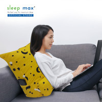Sleep Max Backrest Pillow/Bantal Sandaran/Bantal Santai - Star Yellow
