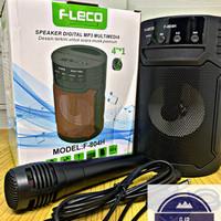 Speaker Portable Bluetooth FLECO F-804H Free Mic - Spiker Speker Mini