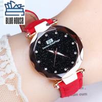 BHouse - Jam Tangan Wanita Elegan Crystal Sky Desain Korea - J3 - Merah