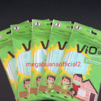 Vio masker medis anak-surgical mask kids 5s- Earloop Green