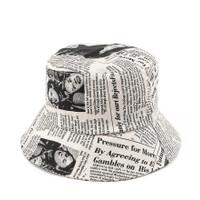Urban State - Newspaper Bucket Hat - Cream