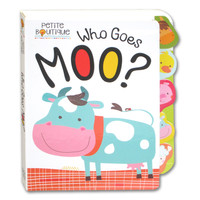 Petite Boutique Who Goes Moo? Tabbed Board Book