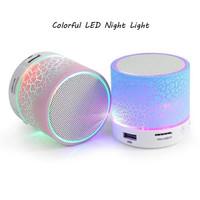 Speaker Bluetooth Lampu Retak Music Portable Mini Support MMC USB Flas