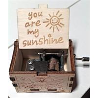 Music Box You Are My Sun Shine Putih - Kotak Musik - Vintage
