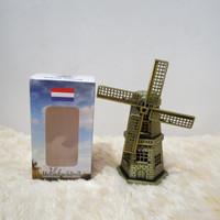 Miniatur Souvenir Kincir Angin Besi Holland Belanda 24 cm
