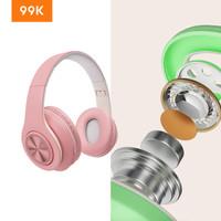 99K Macaron Headset Wireless Bass Gaming Earphone Colorful Bluetooth P