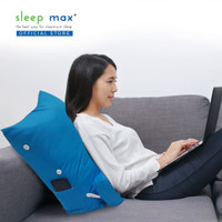 Sleep Max Backrest Pillow/Bantal Sandaran/Bantal Santai - Polos Biru
