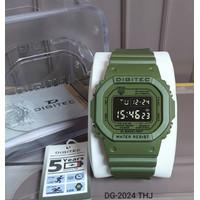 Jam tangan Digitec DG-2024 warna hijau army water resist jam cowok ori