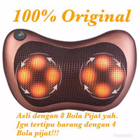 Bantal pijat portable car and home massage pillow, alat pijat portable