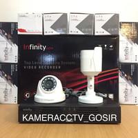 Paket cctv infinity 4 channel 2 kamera cctv infinity 2mp 1080p lengkap