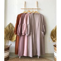 Mira Long Outher l Outerwear Wanita Fashion Muslim Terlaris & Terbaru