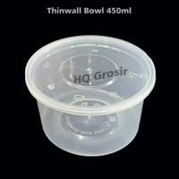 Thinwall Bowl/Cup Puding/Mangkok Puding Plastik 450ml