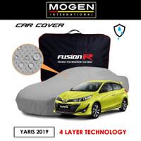 Cover Mobil / Sarung YARIS LAMA Merek FUSION R / Cover Mobil Putih