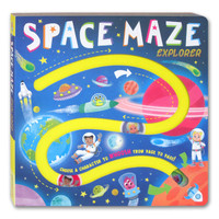 Space Maze Explorer Board Book - Choose A Character to Whoosh From Pag