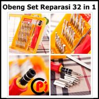 Obeng Set Reparasi Tool Kit Plus Pinset 32 in 1 Type TP 6032D