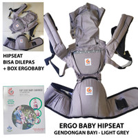 Gendongan Bayi Ergo Baby Hip Seat Baby Carrier ErgoBaby Light Grey