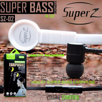 HEADSET SUPER Z SZ02 SUPER BASS HF SUPER Z SUARA BAGUS ADA BASS IMPORT