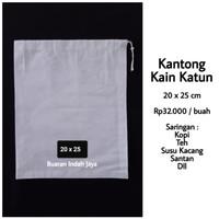 Kantong Kain Katun (20 x 25 cm) ; Saringan Kopi, Susu Kacang, Teh, dll