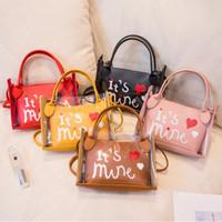 Tas Selempang Transparan Wanita Trendy Sling Bag Korea Fashion Import - pink
