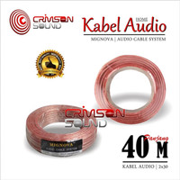 Kabel Audio Cable Speaker 1 Roll 40 Meter 12 AWG Mignova 2x30 40 M