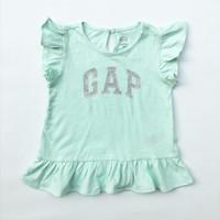 Kaos Logo Baby GAP Anak Perempuan 5 tahun Tosca