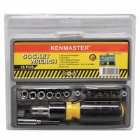Kenmaster Kunci Sok 15 Pcs Socket Wrench