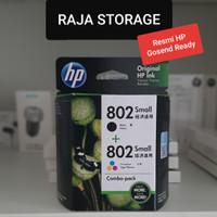 HP 802 Combo Black Tricolor Tinta Original Deskjet 1000 1010 1050