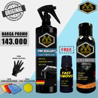 Penghitam Body Motor Mobil MAXXI BLACK DIAMOND + PRO SEALANT PENGKILAP