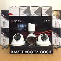 Paket cctv infinity 4 channel 4 kamera cctv infinity 2mp 1080p lengkap