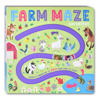Farm Maze Adventure Board Book - Choose A Character to Race From Page