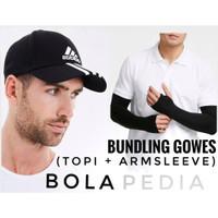 2++ BUNDLING TOPI ADIDAS + ARMSLEEVE / manset tangan sepeda gowes