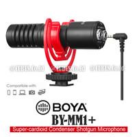 BOYA BY-MM1 Plus Super Cardioid Condenser Shotgun Microphone Monitorin
