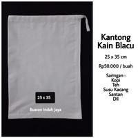 Kantong Kain Blacu (25 x 35 cm) ; Saringan Kopi, Susu Kacang, Teh, dll