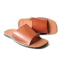 Sandal pria bahan kulit asli model silang terbaru CLW 092
