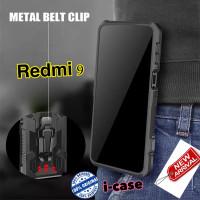 Case Redmi 9 Ultra Case Armor Belt Clip Pinggang New Xiaomi Redmi9