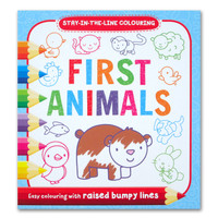 First Animals Stay-in-the-Line Colouring Book (Easy Colouring With Rai