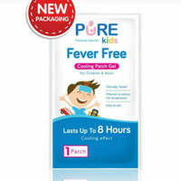 PURE KIDS FEVER FREE COOLING PATCH GEL UP TO 8 HOURS KOMPRES SACHET