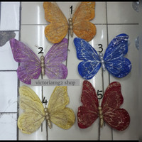 Kupu-kupu Glitter Dekorasi Beludru Uk.Besar