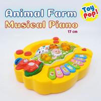 Mainan Bayi Animal Farm Piano Musikal Edukatif dan Lucu! - Merah