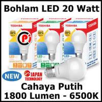 Toshiba Bohlam Lampu LED Cahaya Warna Putih 20 Watt 20W Hemat Energy