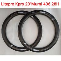Velg Rims Litepro Kpro Alloy 20 inch 28H 406 20 murni New strummer