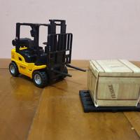Diecast Miniatur Mobil Forklift - Diecast Mobil Forklift