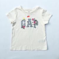 Kaos Logo Baby GAP Anak Perempuan 3 tahun White