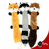 Squeaky Plush Fox Toy/Mainan Bunyi Gigitan Anjing Kucing Rubah Panjang - Cokelat