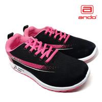 Sepatu Wanita ANDO Original - Sneakers Wanita Pink